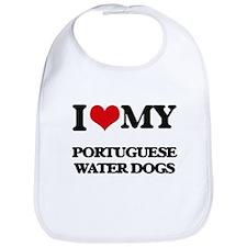 I love my Portuguese Water Dogs Bib