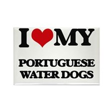 I love my Portuguese Water Dogs Magnets