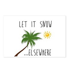 Let it Snow Elsewhere Postcards (Package of 8)