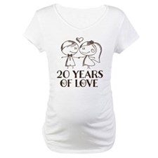 20th Anniversary chalk couple Shirt