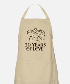 20th Anniversary chalk couple Apron