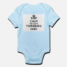 Keep calm we live in Twinsburg Ohio Body Suit