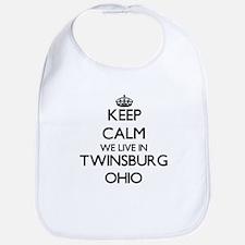 Keep calm we live in Twinsburg Ohio Bib