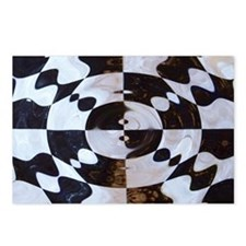 Checkered Flag Distorted Postcards (Package of 8)