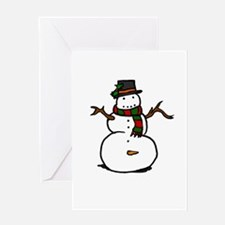 Naughty Snowman Greeting Cards
