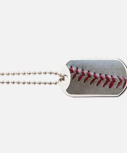 Baseball Stitches Dog Tags