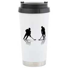 Unique Hockey player Travel Mug