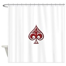 Winged Spade.png Shower Curtain