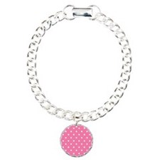 PINK AND WHIE Polka Dots Bracelet