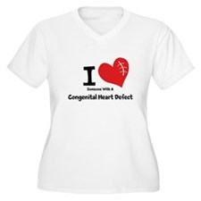 I Heart Someone with a CHD Plus Size T-Shirt