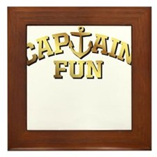 Captain Fun Framed Tile