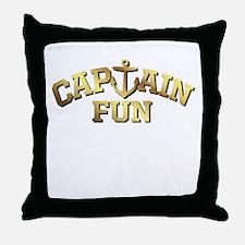 Captain Fun Throw Pillow