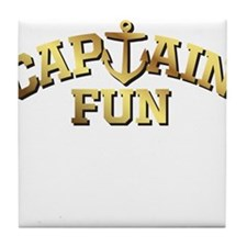 Captain Fun Tile Coaster