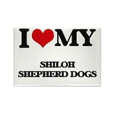 I love my Shiloh Shepherd Dogs Magnets
