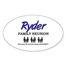 Ryder Family Reunion Oval Decal