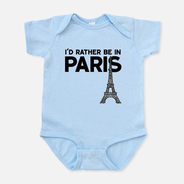 I'd Rather Be In Paris Body Suit