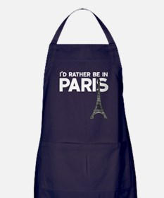 I'd Rather Be In Paris Apron (dark)