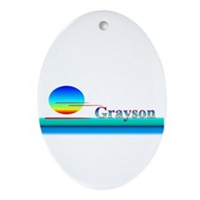 Grayson Oval Ornament