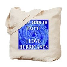 I Love Hurricanes Tote Bag