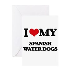 I love my Spanish Water Dogs Greeting Cards