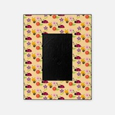 Pretty Flowers Bees and Ladybug Patt Picture Frame