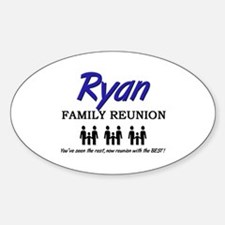 Ryan Family Reunion Oval Decal