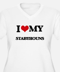 I love my Stabyhouns Plus Size T-Shirt