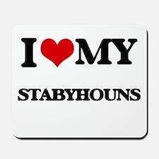 I love my Stabyhouns Mousepad