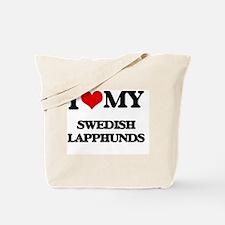 Cute Swedish lapphund Tote Bag