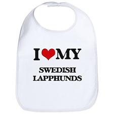 I love my Swedish Lapphunds Bib
