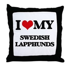 I love my Swedish Lapphunds Throw Pillow