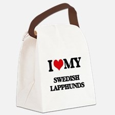 I love my Swedish Lapphunds Canvas Lunch Bag