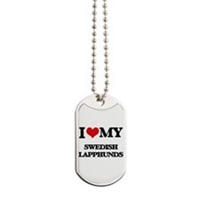 I love my Swedish Lapphunds Dog Tags