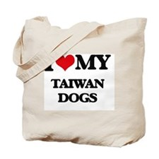 I love my Taiwan Dogs Tote Bag