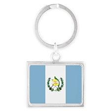 Guatemalan flag Landscape Keychain