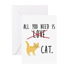All You Need is Cat Greeting Cards