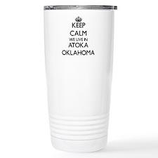 Keep calm we live in At Travel Mug