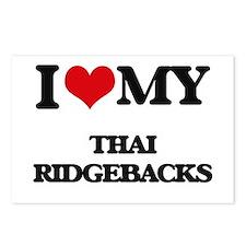 I love my Thai Ridgebacks Postcards (Package of 8)