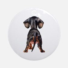 Dachshund Puppy Ornament (Round)