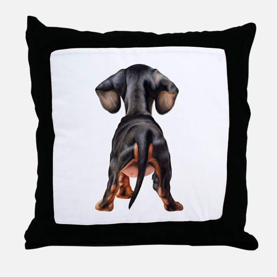 Dachshund Puppy Throw Pillow