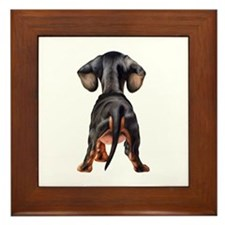 Dachshund Puppy Framed Tile