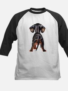 Dachshund Puppy Kids Baseball Jersey