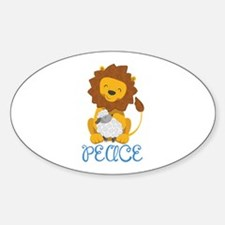 LION AND LAMB PEACE Decal