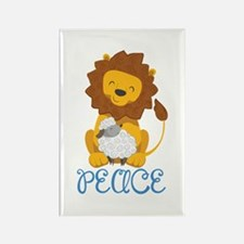 LION AND LAMB PEACE Magnets