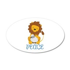 LION AND LAMB PEACE Wall Decal