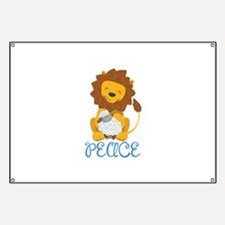 LION AND LAMB PEACE Banner