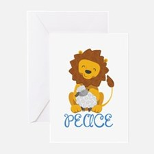 LION AND LAMB PEACE Greeting Cards