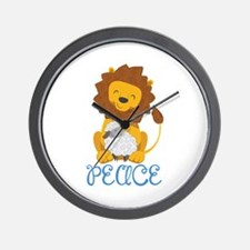 LION AND LAMB PEACE Wall Clock