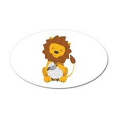 LION AND LAMB Wall Decal