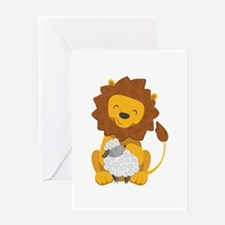 LION AND LAMB Greeting Cards
